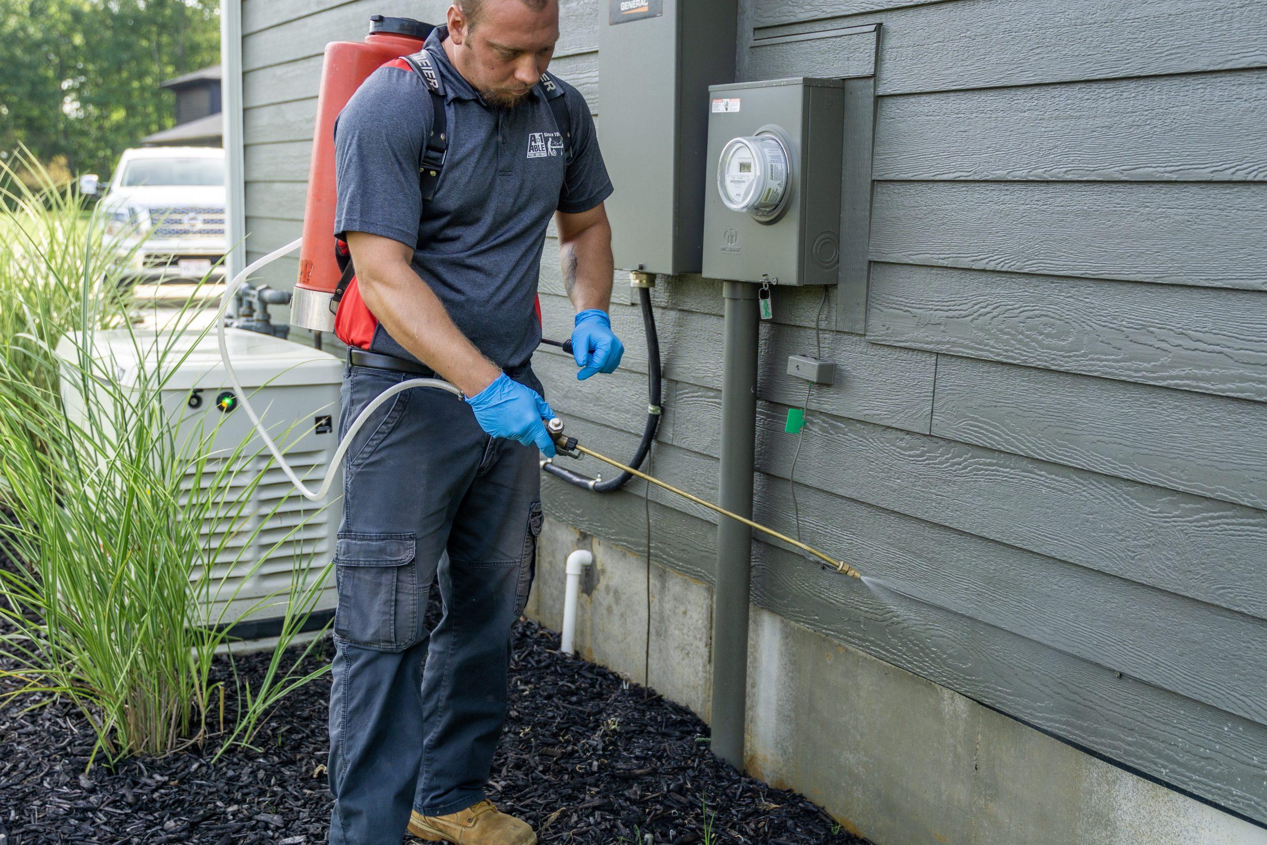 technician checks for conducive conditions and treats them